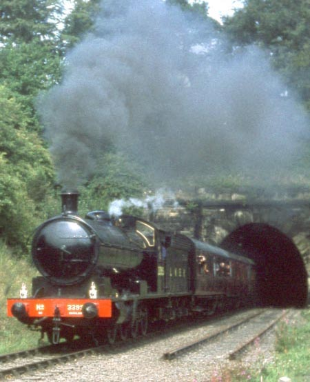 63395 in LNER livery as 3396 leaving Grosmont Tunnel