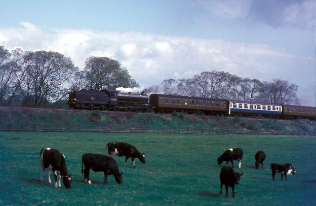 After reversing at Northallerton, 62005 is seen hauling the train near Leaming Bar on the way to Wensleydale.
